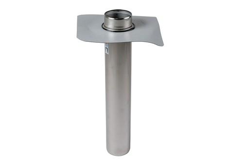 Protanbräddavlopp ljus Förhöjd 50 mm ø 110 mm, tapprör 600 mm